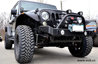 Photo: Garvin Front Bumper with Warn PowerPlant, Rigid D2s, Toyo Open Country M/Ts 35x12.5x17