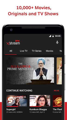 Airtel Xstream (Airtel TV): Live TV, Movies, Shows 1.18.4 screenshots 2