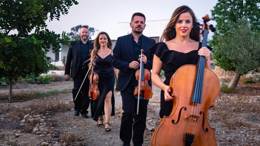 El cuarteto de cuerdas de la Orquesta Ciudad de Almería.
