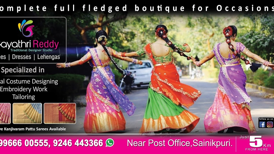 Gayathri Reddy Traditional Designer Studio Designer Clothing Shop In Secunderabad