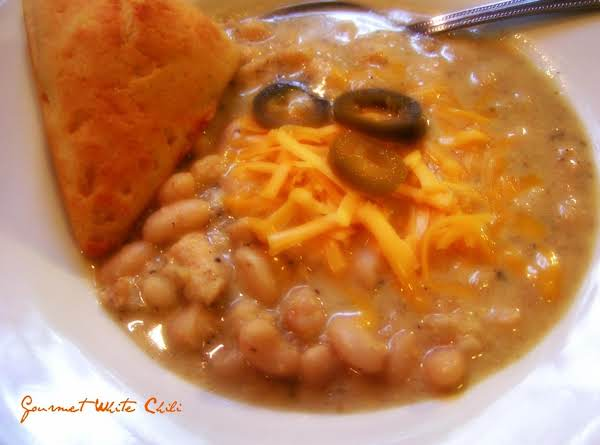 Gourmet White Chili In A Slow Cooker Recipe