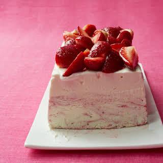 Strawberry Ice Cream Cheesecake.