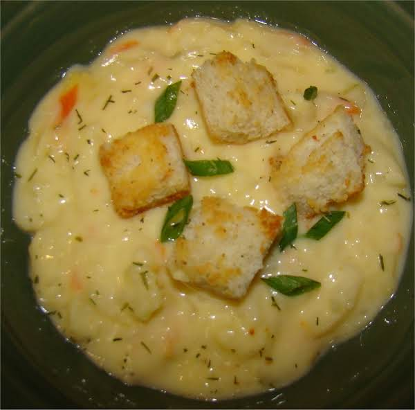 Cheesy Dilly Cauliflower Soup By Maggie Recipe