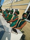 PHOTO NEWS: Schools Reopening: SS3 Students of Archdeacon the Crowther Memorial Girls' School, Elelenwo observing the COVID 19 protocols