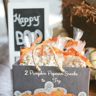 Spicy Pumpkin Popcorn Snack