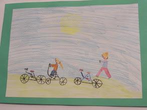 """Photo: praca Zuzi """" Jeździmy rowerem bo ... to świetny sposób na szczupłą sylwetkę """""""