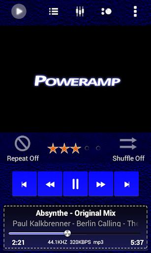 Poweramp Skin Blue Dk Leather