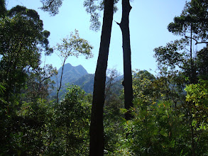 Photo: View of the twin peaks of Phu Miang, Klong Tron national park, Uttaradit