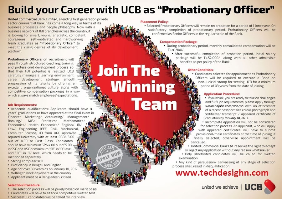 United Commercial Bank limited Probationary Officer