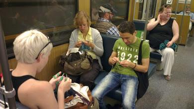 Photo: Stricken in der U-Bahn