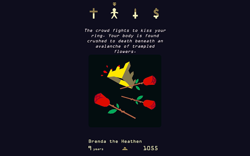 Reigns: Her Majesty game for Android screenshot