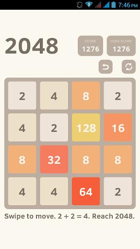 2048 Simple Puzzle