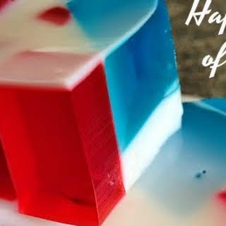 Red, White and Blue Broken Glass Jell-o.