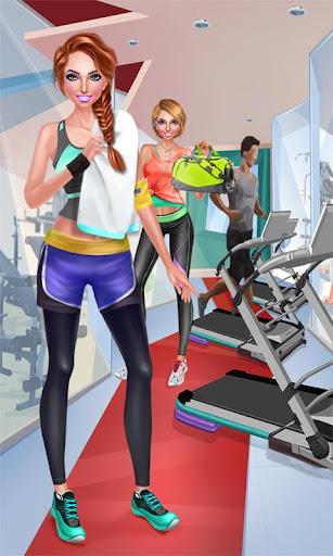 運動女孩- 健康美少女換裝游戲