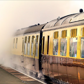 The train now departing... by Zoot The-Tog - Transportation Trains ( mystery, transport, train, steam )