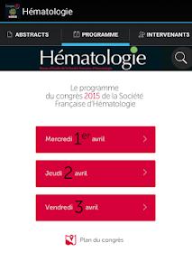Hématologie congrès SFH 2015 screenshot 13