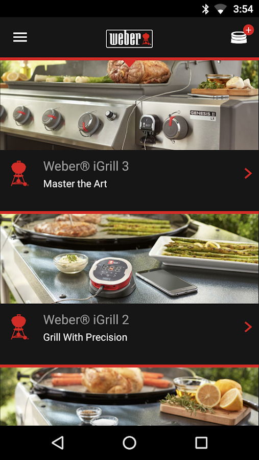 Weber® iGrill®- screenshot