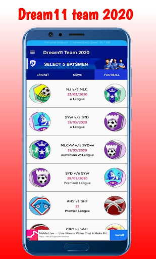 Fantasy team Dream11- Tips & Cricket Prediction  screenshots 6