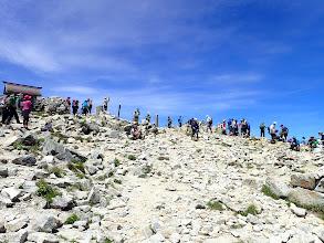 山頂に到着(沢山の人が…)