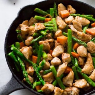Asparagus Sweet Potato Chicken Skillet.