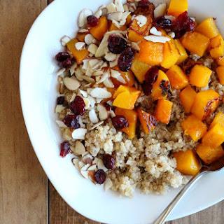 Maple Roasted Butternut + Quinoa Breakfast Bowl
