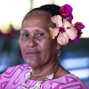 A FACE CAN TELL A THOUSAND STORIES by Frank Photography - People Portraits of Women ( honeymoon, holiday, cook islands, beautiful, south pacific, interesting, old woman, , best female portraiture )