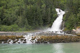 Photo: Waterfall in Lynn Canal