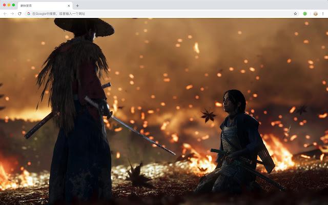 Ghost Of Tsushima Samurai Pop HD Themes