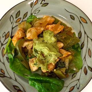 Fajita Chicken with Guacamole