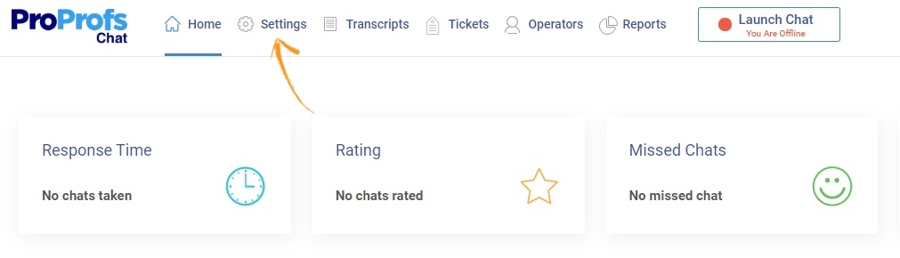 Proactive live chat dashboard