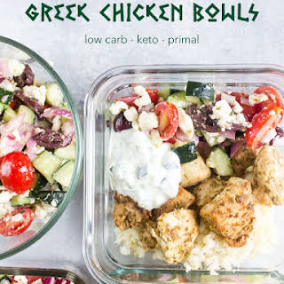 Low-Carb Greek Chicken Bowls.