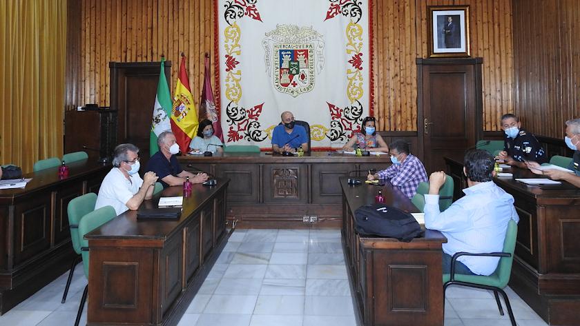 Reunión de coordinación celebrada este jueves en Huércal-Overa.