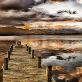 The Jetty by Rory McDonald - Landscapes Waterscapes ( lakes, pier, jetty, landscape )