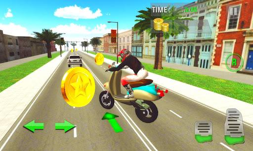 ミラノ市内のスクーター運転
