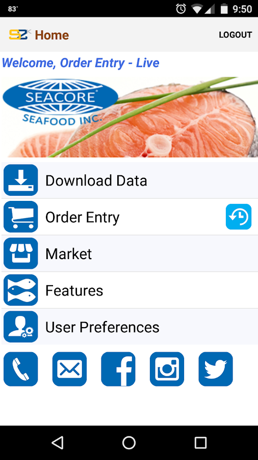 Seacore Seafood- screenshot