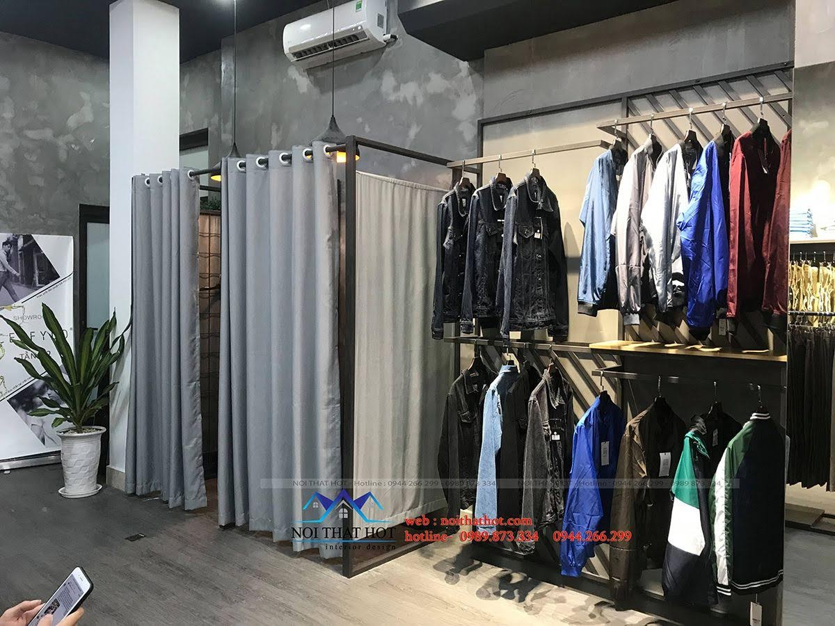 thiết kế thi công shop thời trang nam polido 9
