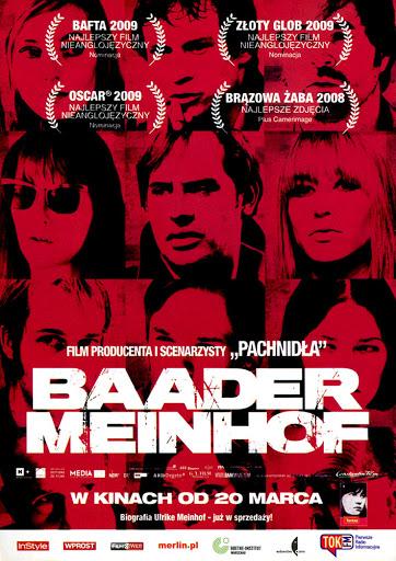 Przód ulotki filmu 'Baader-Meinhof'