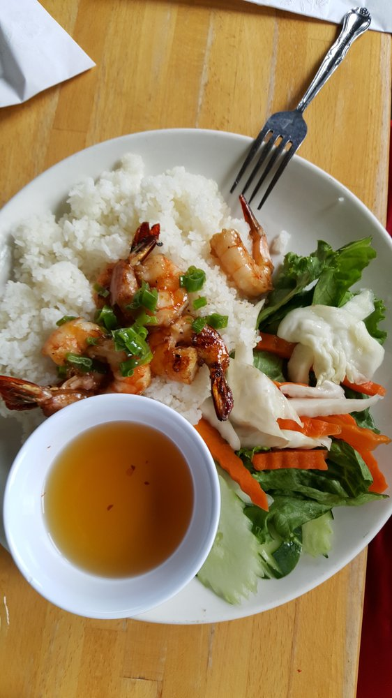 Photo of So Ba - Atlanta, GA, United States. Grilled Shrimp over rice