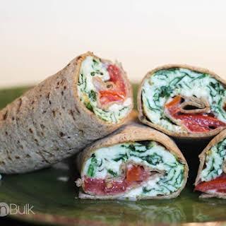 Spinach And Feta Wraps #AllWhitesEggWhites.