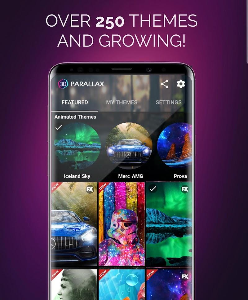 3D Parallax Background - HD Wallpapers in 3D Screenshot 1
