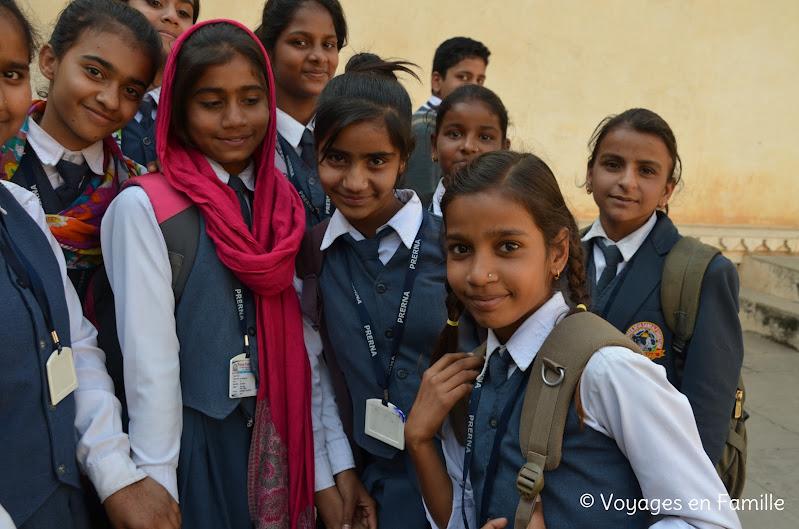 Kumbhalgarh, collégiens