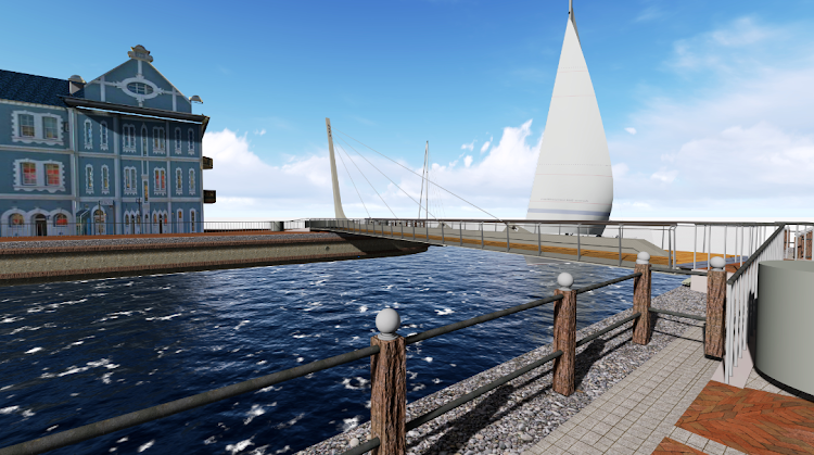 An artists' impression of the new swing bridge at the V&A Waterfront in Cape Town.