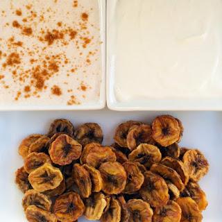 Homemade Banana Chips Recipe w/ Vanilla Coconut & Honey Cinnamon Dipping Sauces