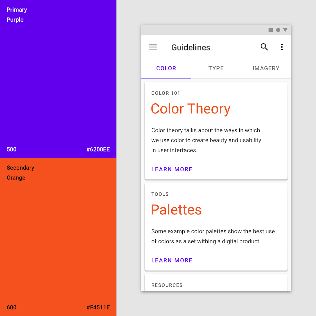 Applying Color To Ui Material Design