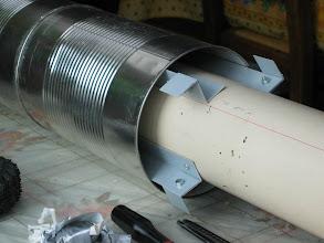 Photo: pour le 80m chaque électrode est composée de trois boites de conserve de 5Kg