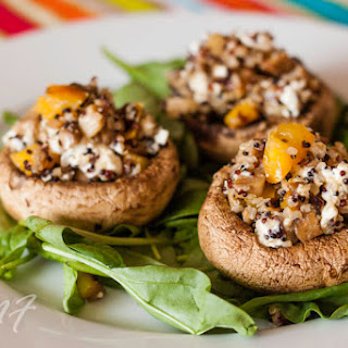 Quinoa-Feta Stuffed Mushrooms