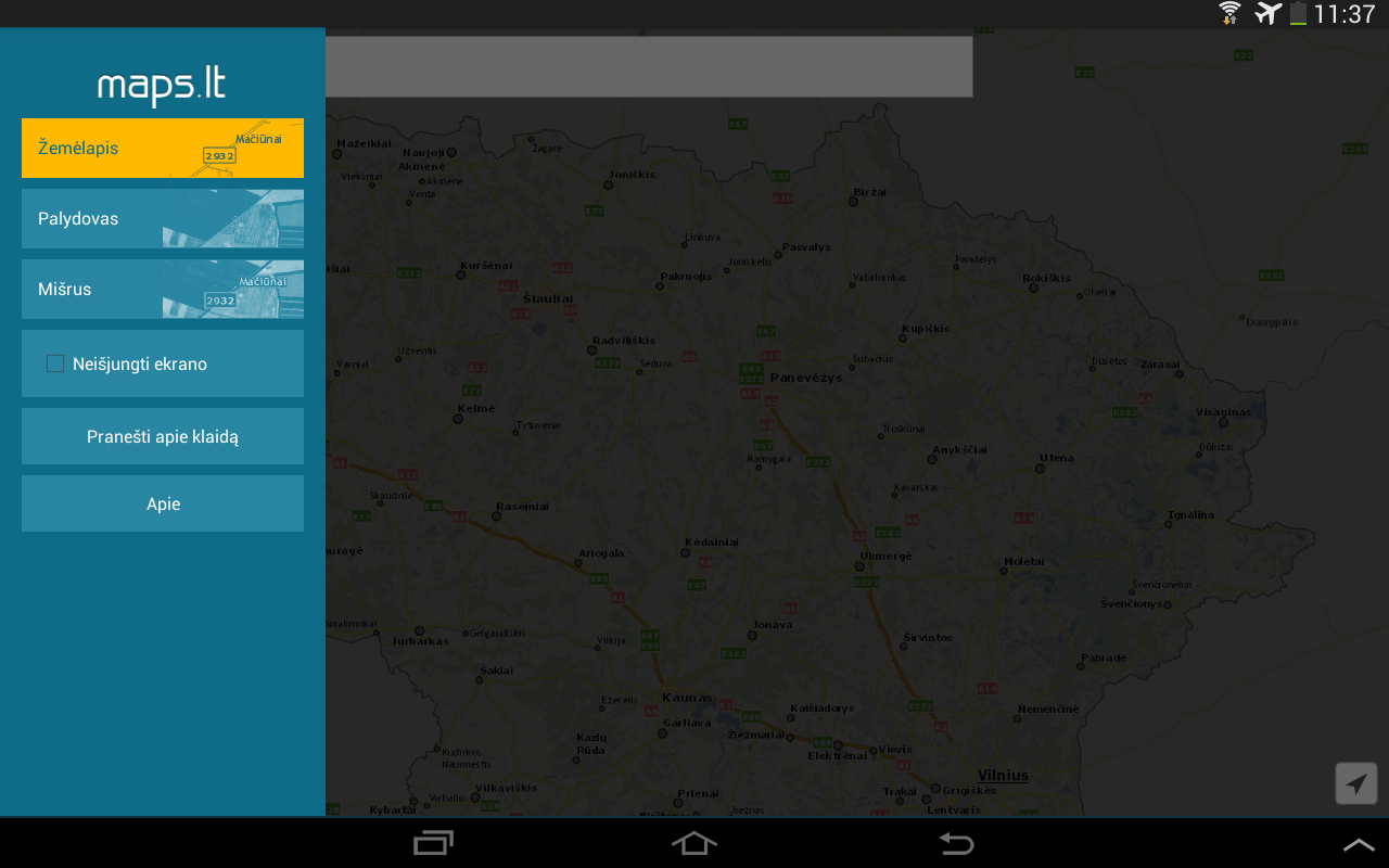Maps.lt- screenshot