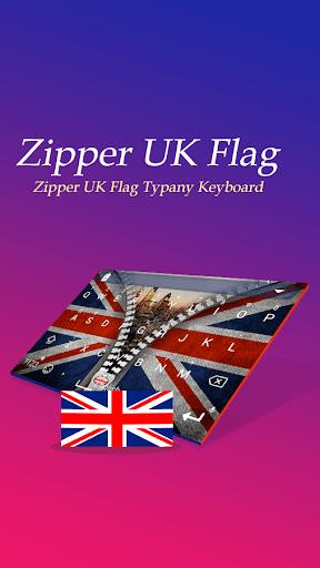 Zipper UK Flag Theme Keyboard  screenshots 1
