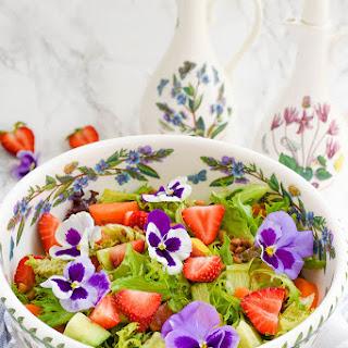 Summer Strawberry & Peach Lentil Salad Recipe