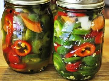 """Pickled Jalapeno Peppers """"Texas Pickles"""""""